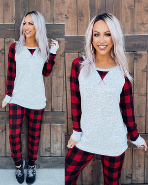 Winter Chills Buffalo Plaid Tunic