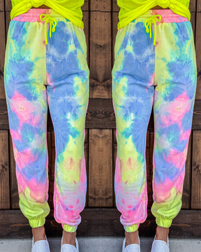 Tropical Crush Tie Dye Joggers