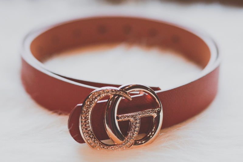 Bling Gia Belt - Brown