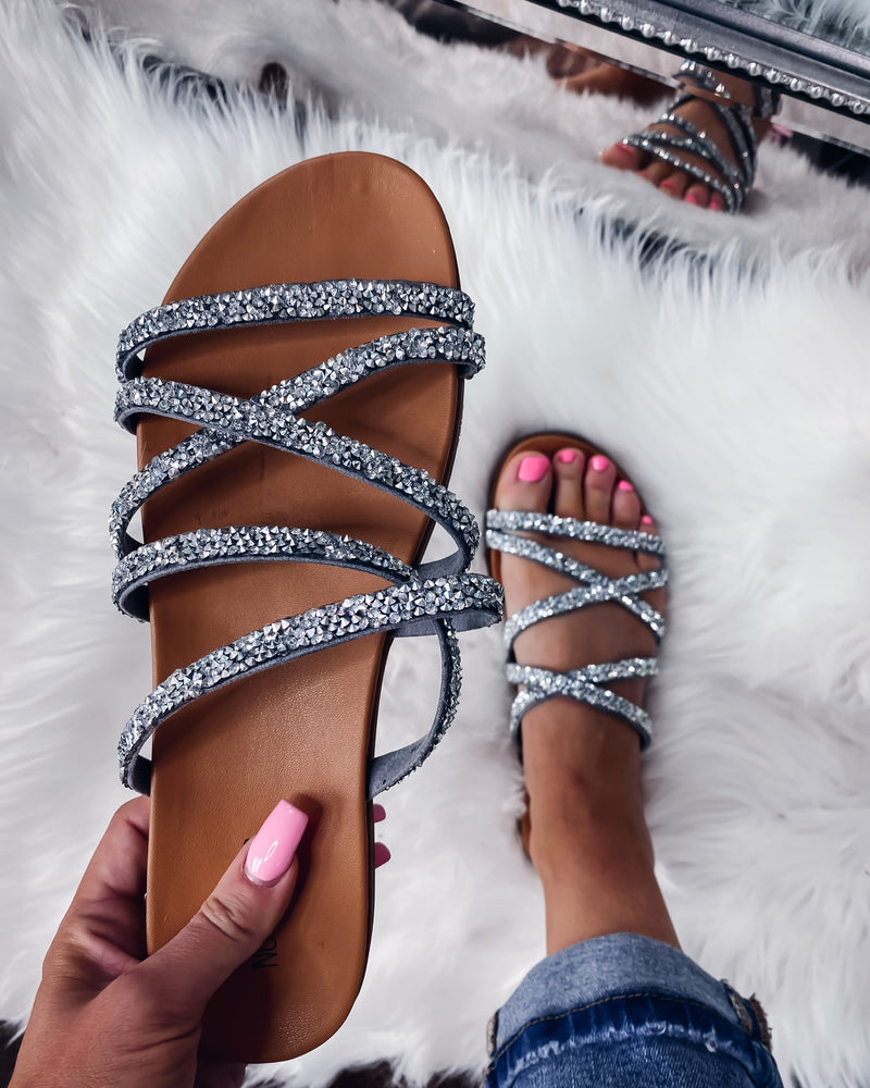 Eliana Bling Sandals - Silver
