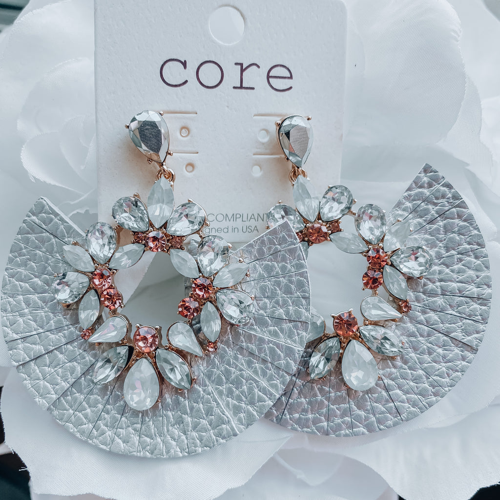 Divine Silver Statement Earrings