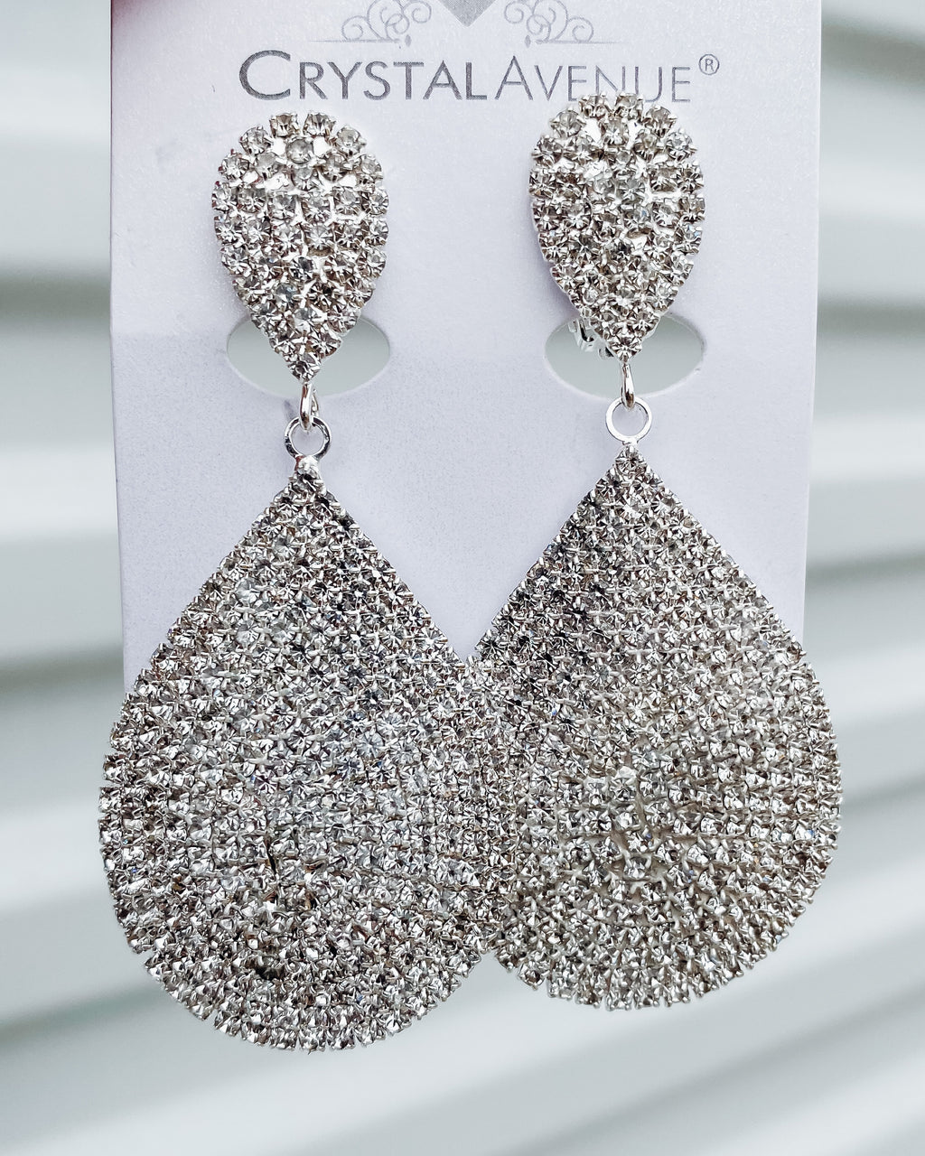 To Be Loved Rhinestone Teardrop Earrings
