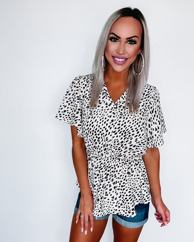 Spotted Angel Blouse
