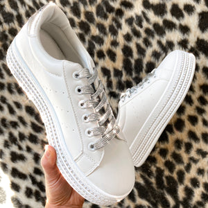 Runway Sneakers - White/Silver