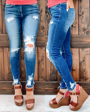 Kenna Distressed Skinnies