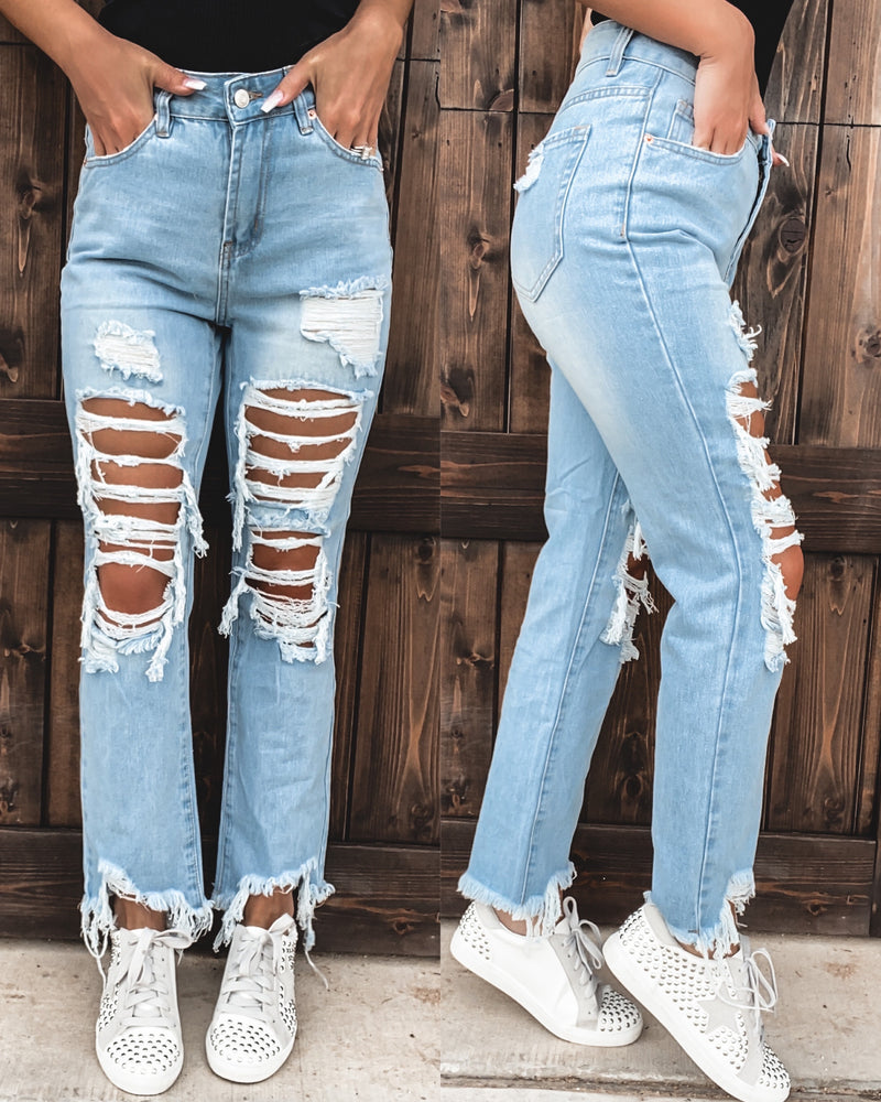 Dallas Destroyed Boyfriend Jeans