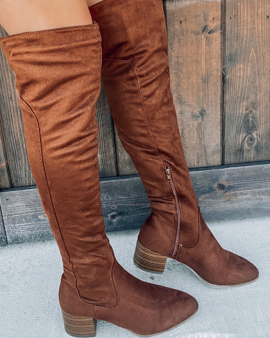 Lakyn Knee High Boots - Brown