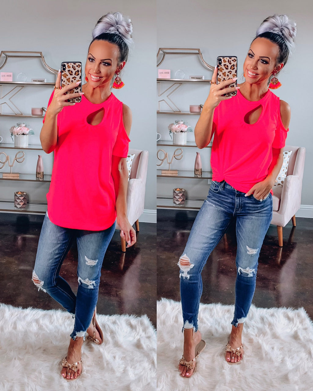 Slay In Neon Pink Top