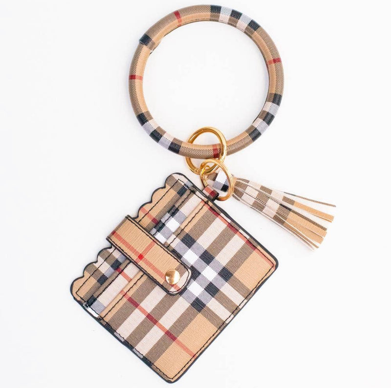 Cardholder Tassel Bangle - Plaid