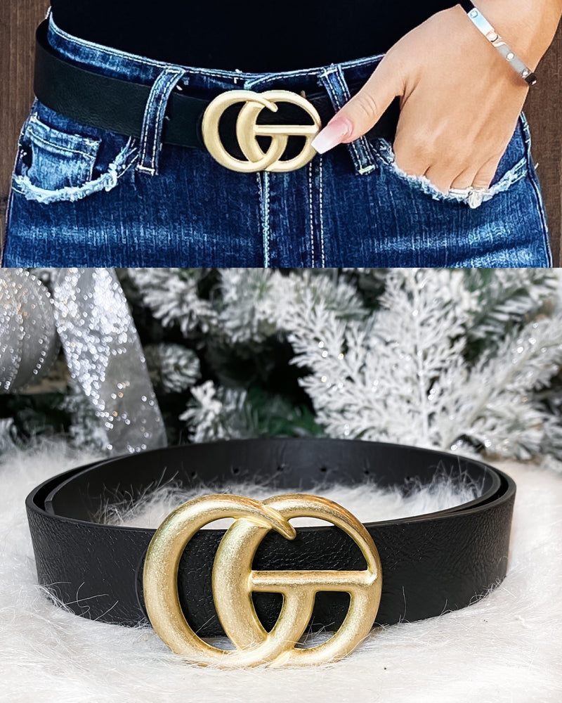 Matte Gia Belt - Black