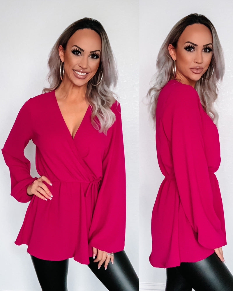 Grace Blouse - Fuchsia