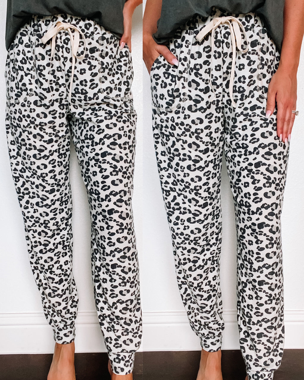 Lounge in Leopard Jogger Pants