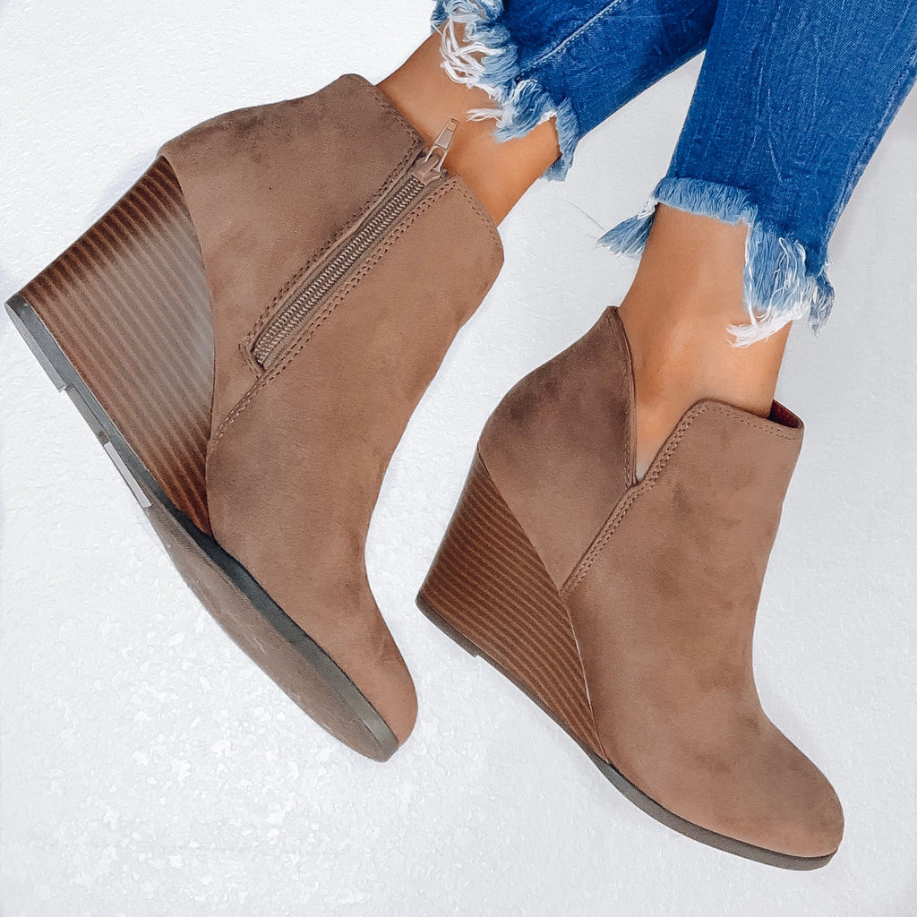 Talyn Wedge Bootie - Taupe