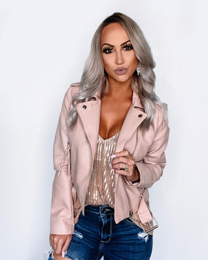 Biker Barbie Jacket - Mauve