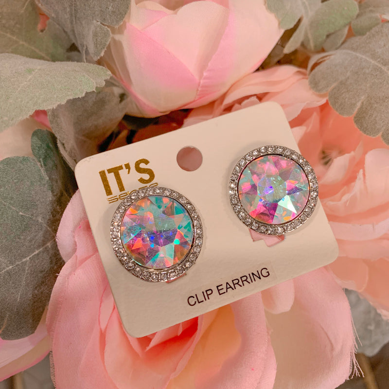 Royal AB Clip On Earrings