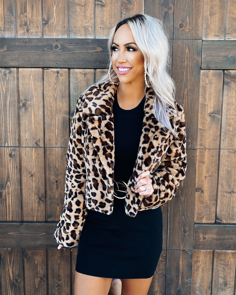Luxury Leopard Fur Coat