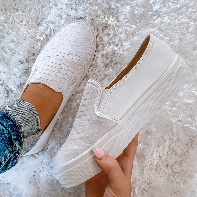 Peyton Python Slip On Sneakers - White
