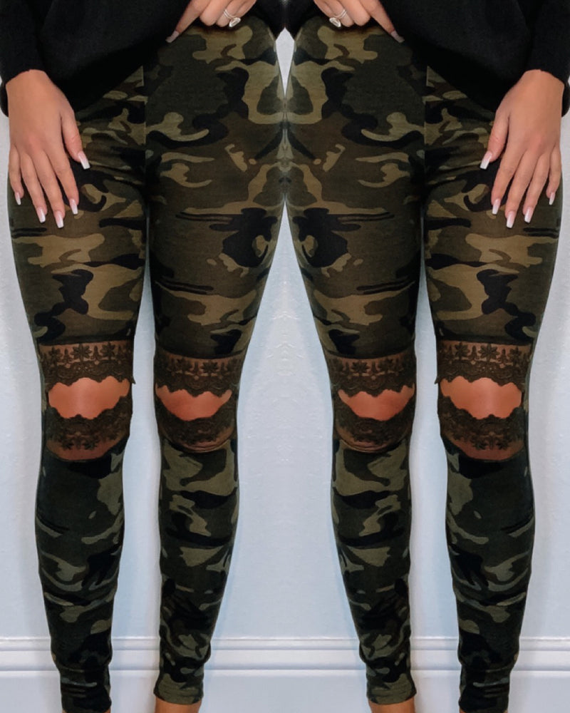 Camo & Lace Leggings