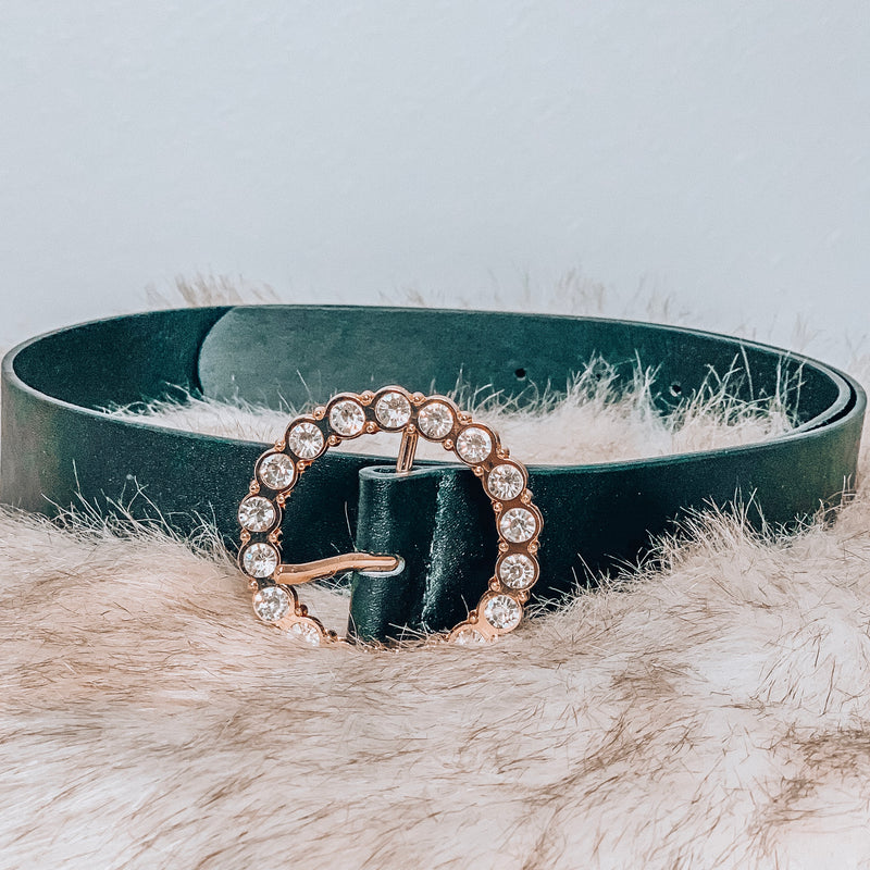 Born to Bling Round Belt - Black