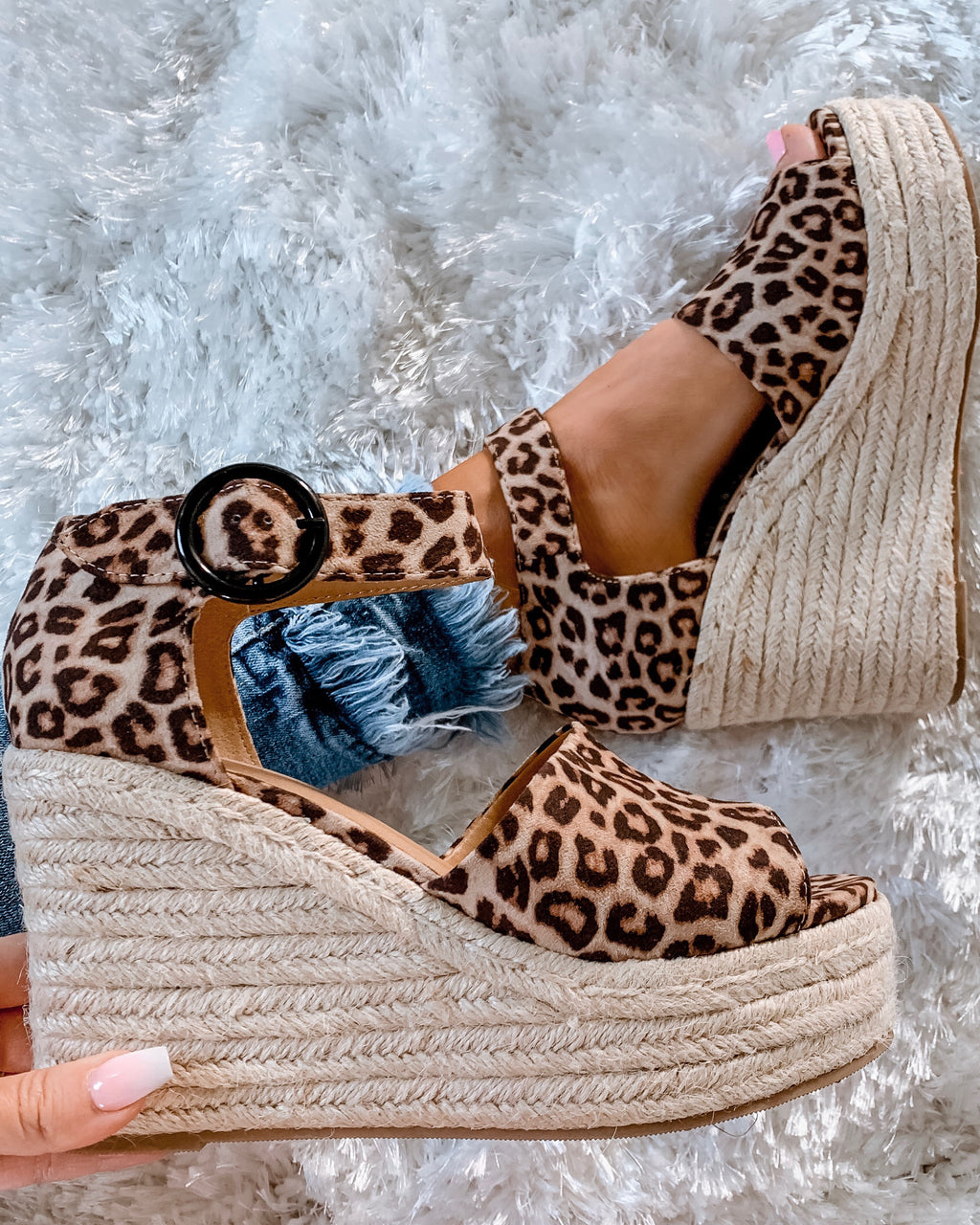 Cabana Wedges - Leopard {BombDEAL}