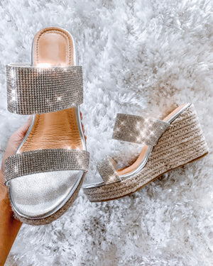 Bling Wedges - Silver