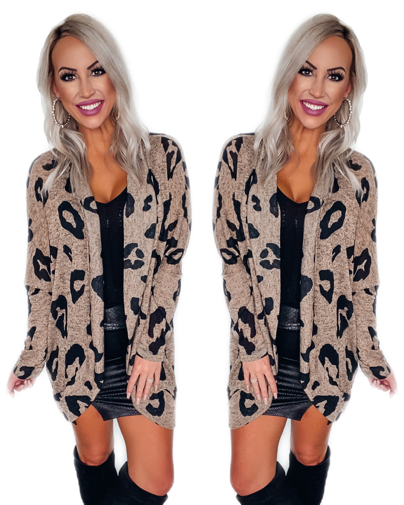 Wild About You Leopard Dolman Cardigan