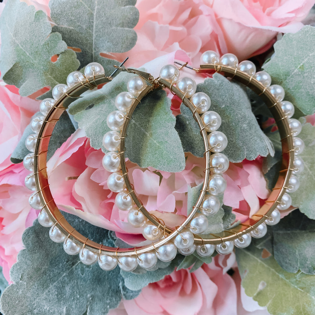 Jumbo Pearl Hoop Earrings