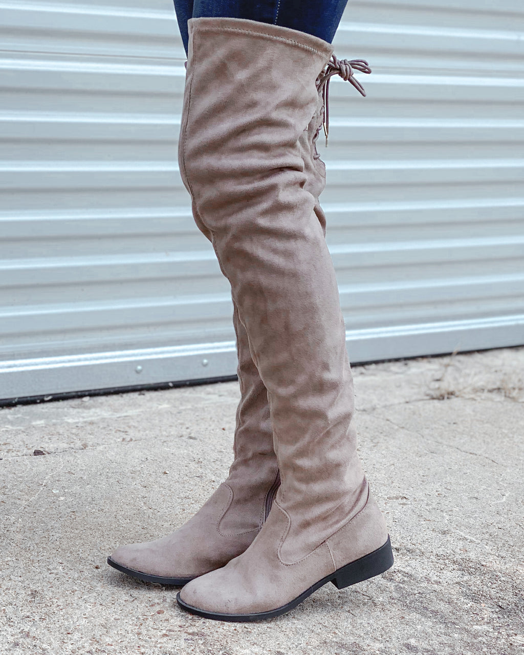 Vinci Knee High Boots - Taupe