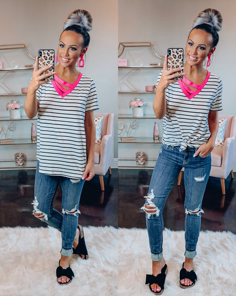 Clueless Stripe Top