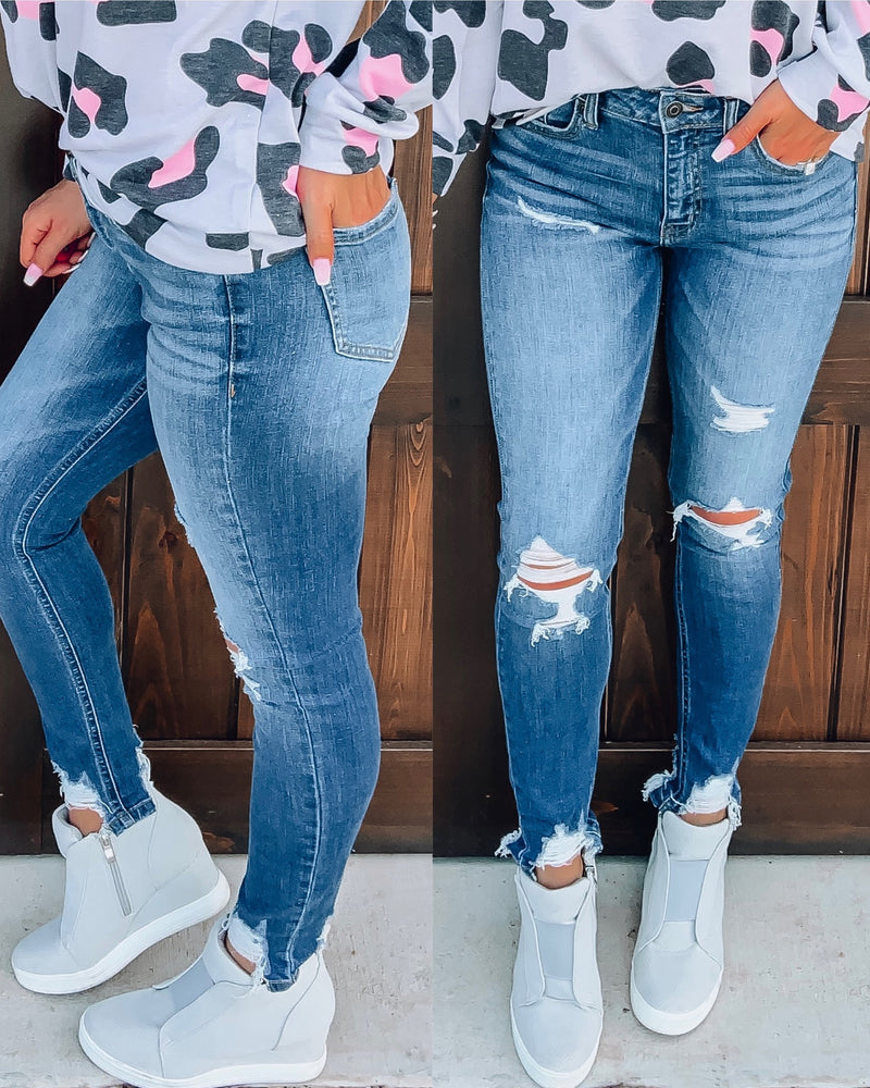 Briney Distressed Skinnies