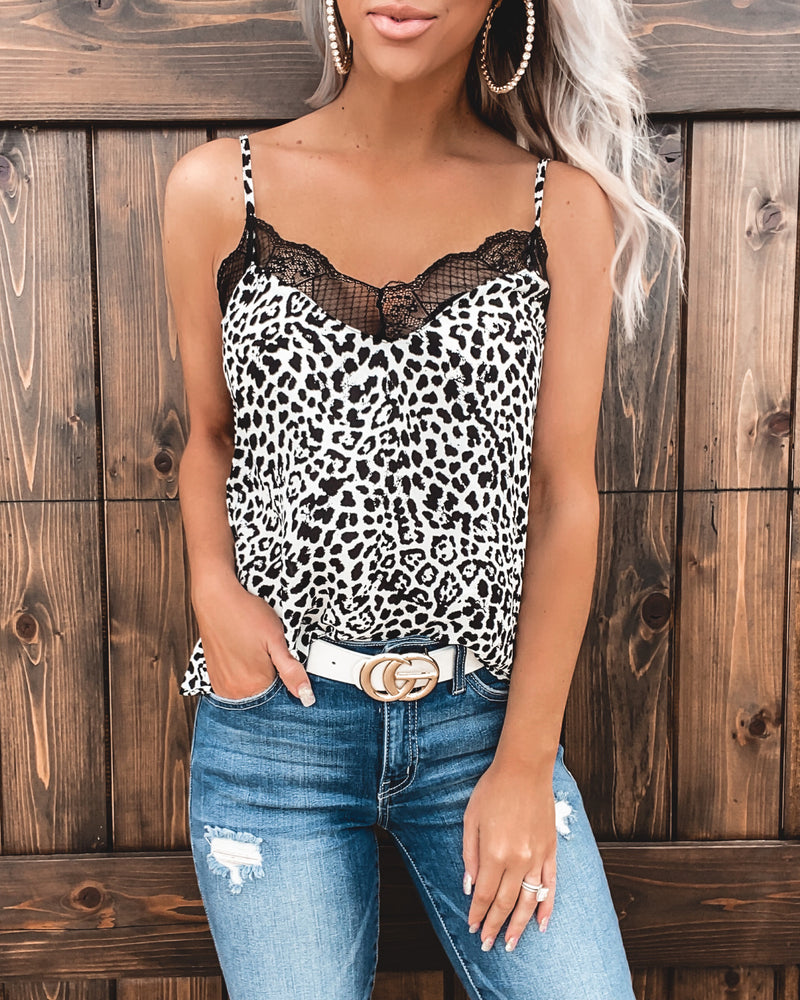 I'm Going To Love You Leopard Lace Tank