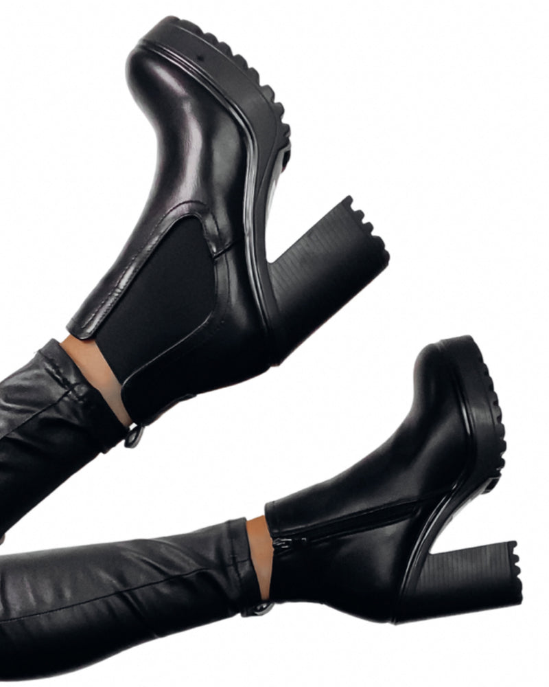 Baddie Faux Leather Boots