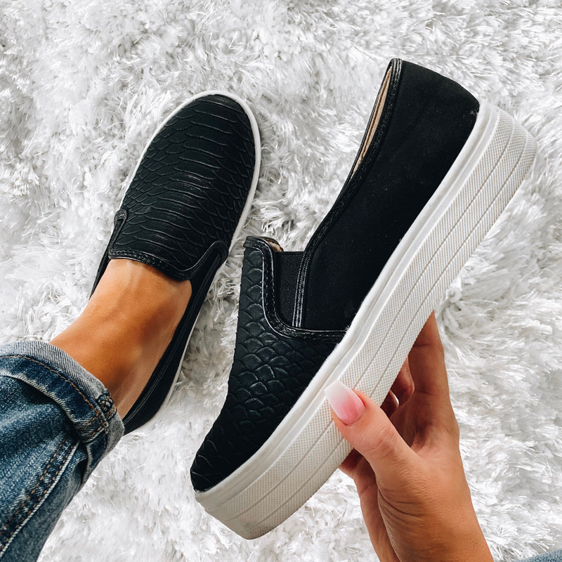 Peyton Python Slip On Sneakers - Black