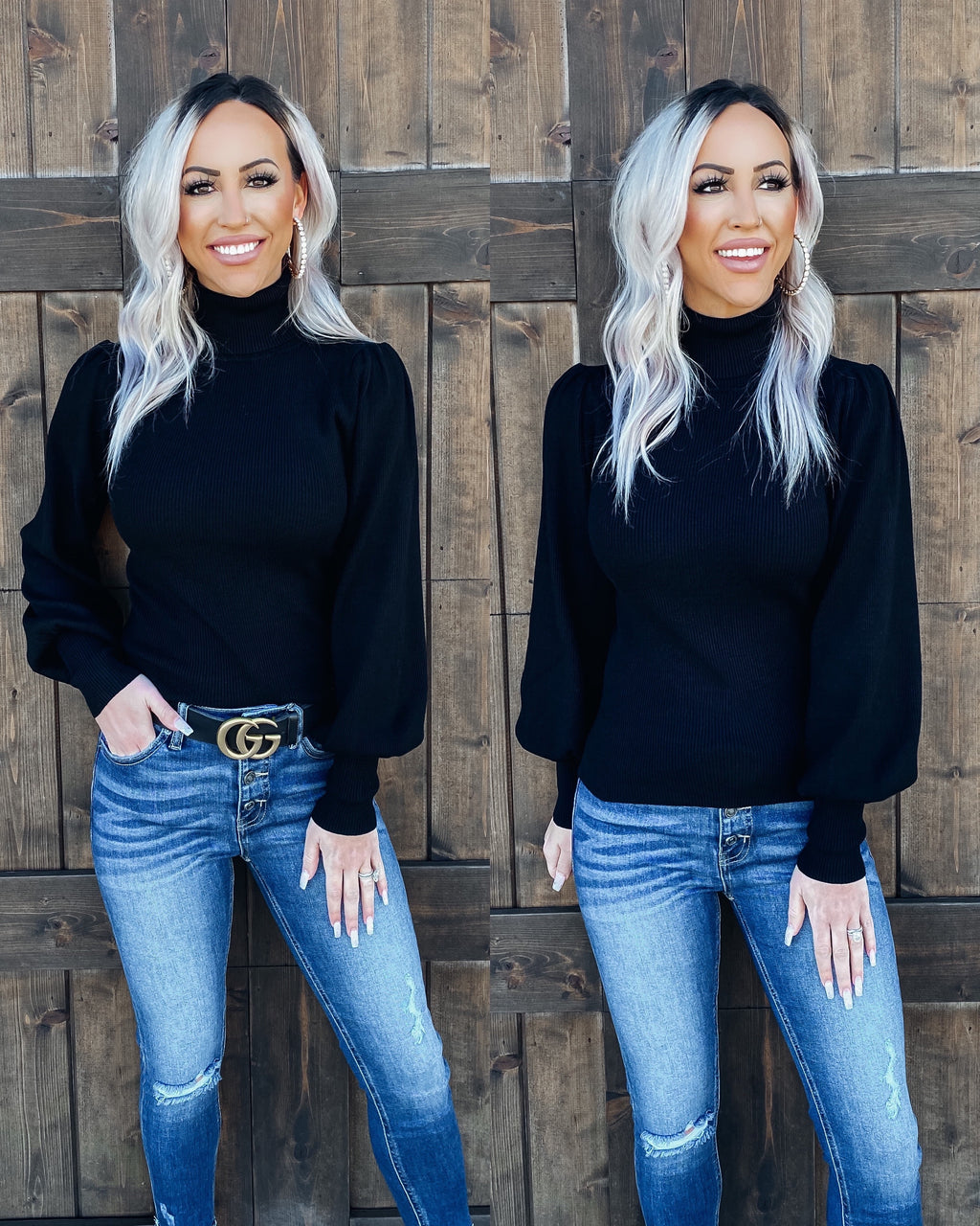 Cozy & Chic Turtle Neck Sweater - Black