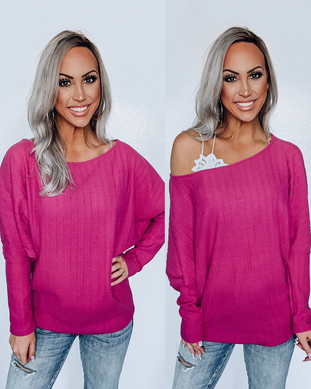 Better Version Of Me Hacci Dolman - Magenta