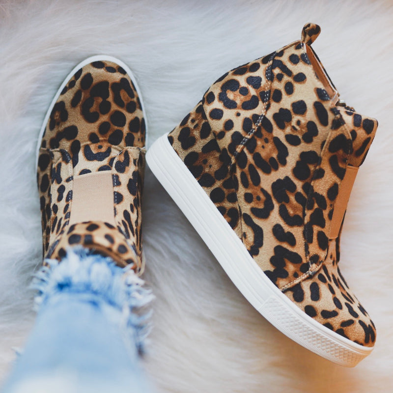 Tatum Wedge Sneakers - Leopard