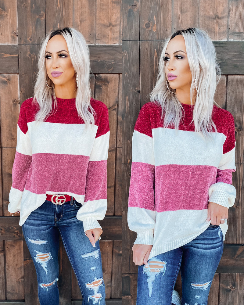 Keep Me Warm Colorblock Sweater