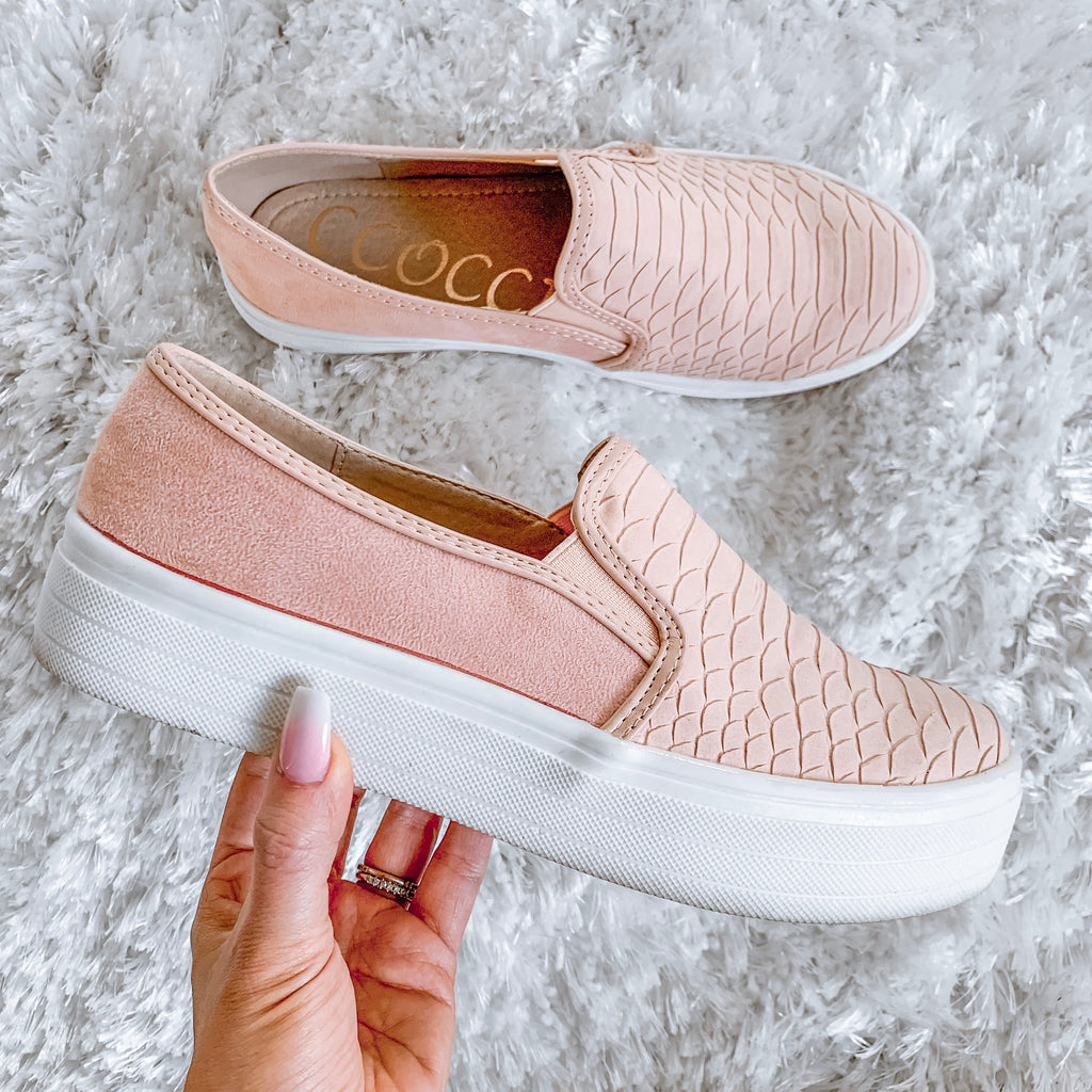Peyton Python Slip On Sneakers - Blush