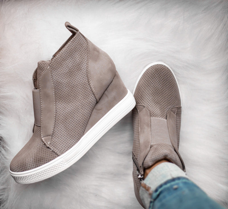 Tatum Wedge Sneakers - Taupe