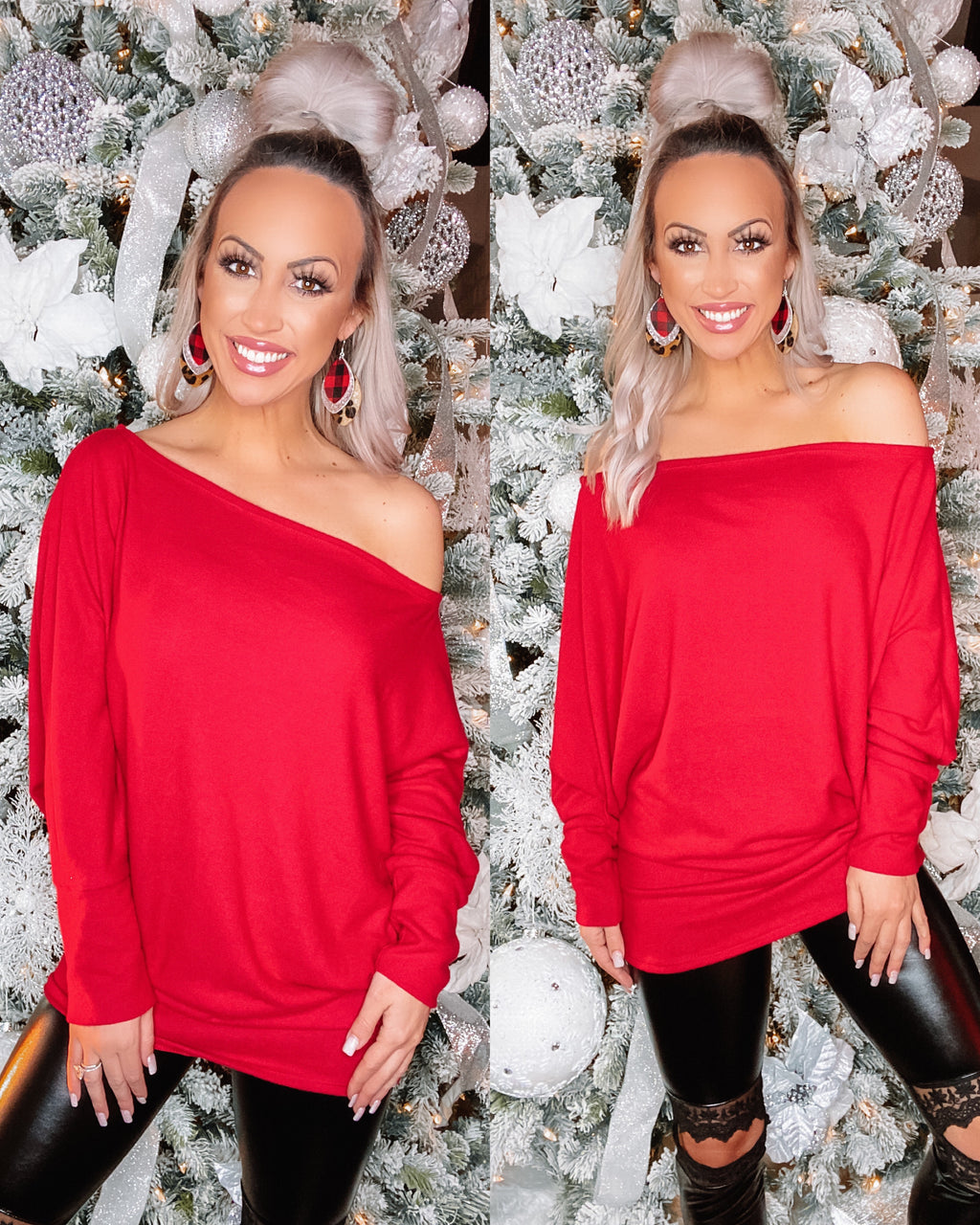 Just My Type Dolman - Red