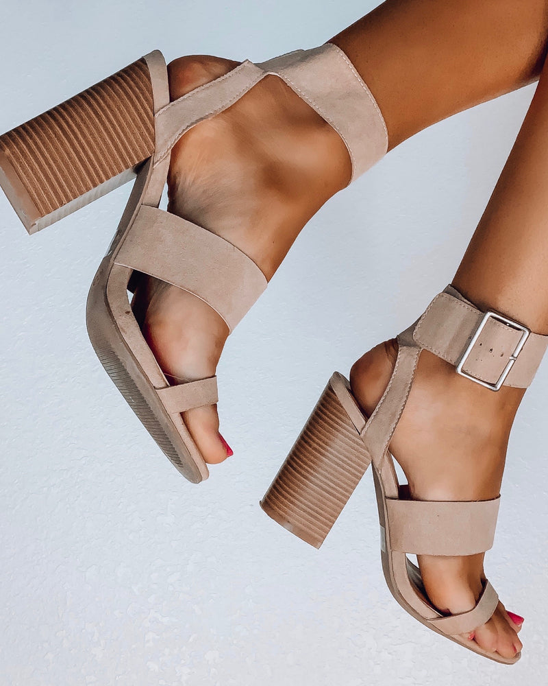 Trish Nude Block Heels