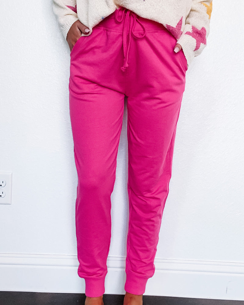 Casual Crush Joggers - Hot Pink