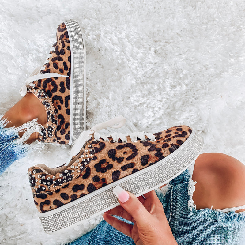 Flashy Leopard Platform Sneakers