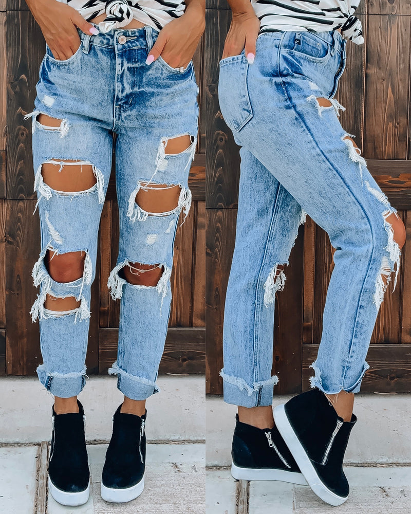 Joelle Distressed Boyfriend Jeans