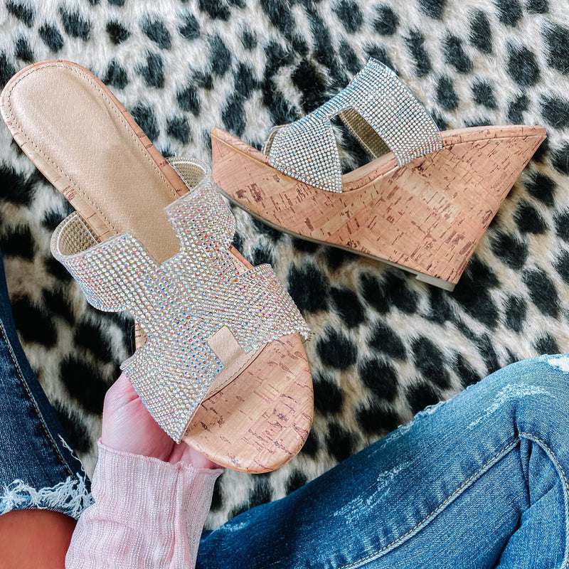 Glitz Wedges - AB Crystal