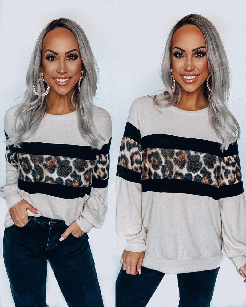 What I like About You Leopard Long Sleeve Top