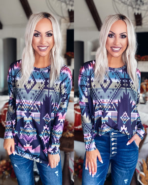 Lost In The Moment Tribal Dolman Top