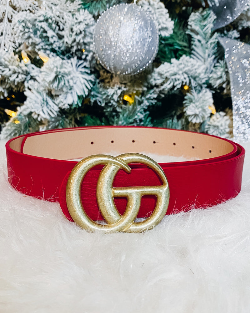 Matte Gia Belt - Red