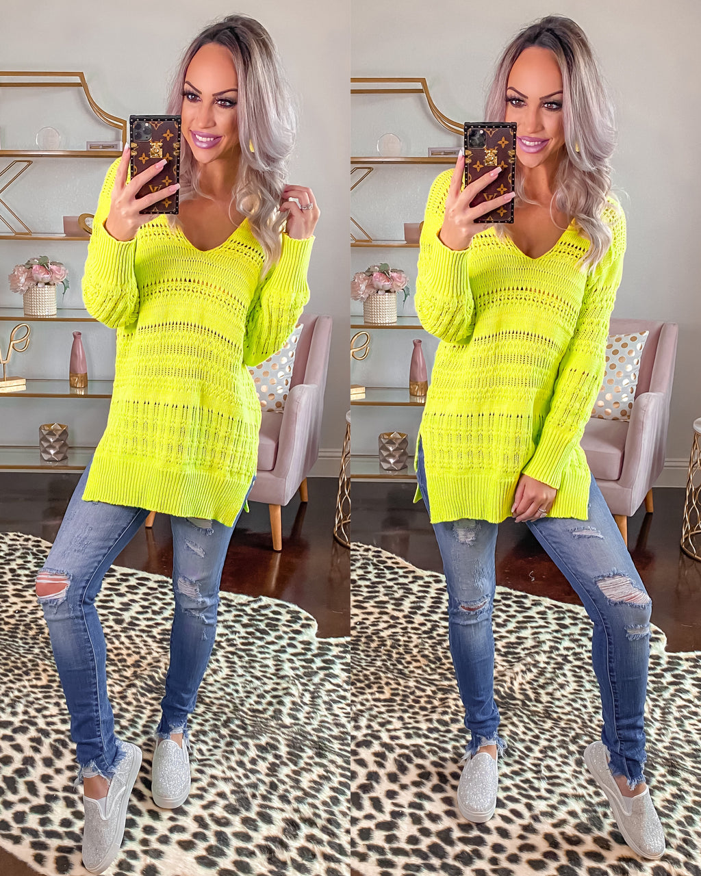 Feel the Breeze Sweater - Lime