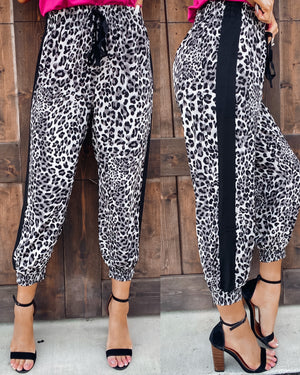 All The Rage Leopard Joggers